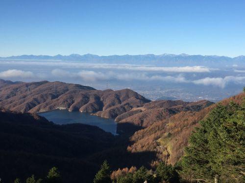 大菩薩湖と南アルプス