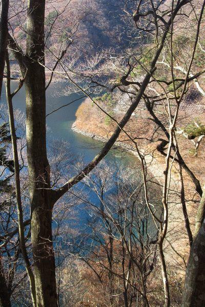 本栖湖の湖岸線