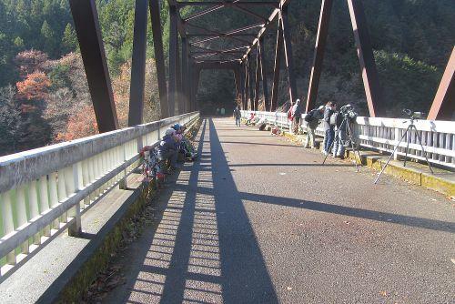 橋の上でランチ