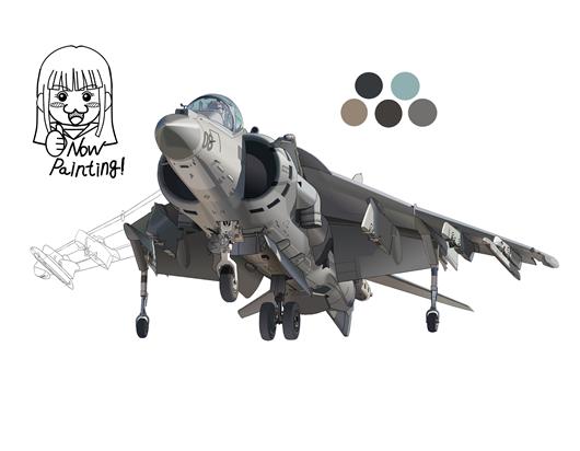 AV-8B 塗り004-04
