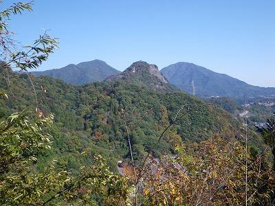 岩殿山と扇山