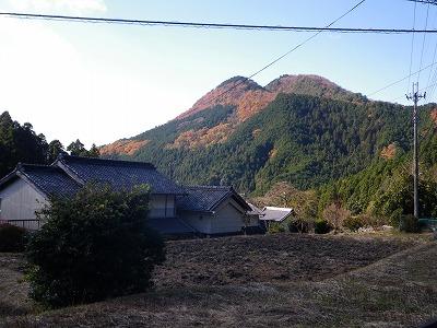 額井岳を見上げる