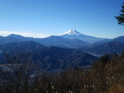 百蔵山からの富士山