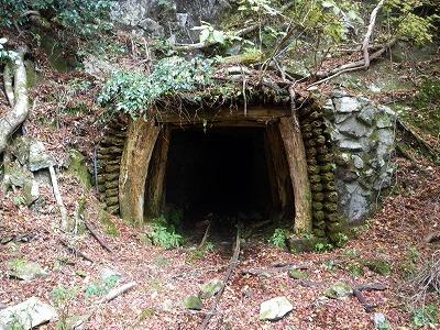 坑道の入口