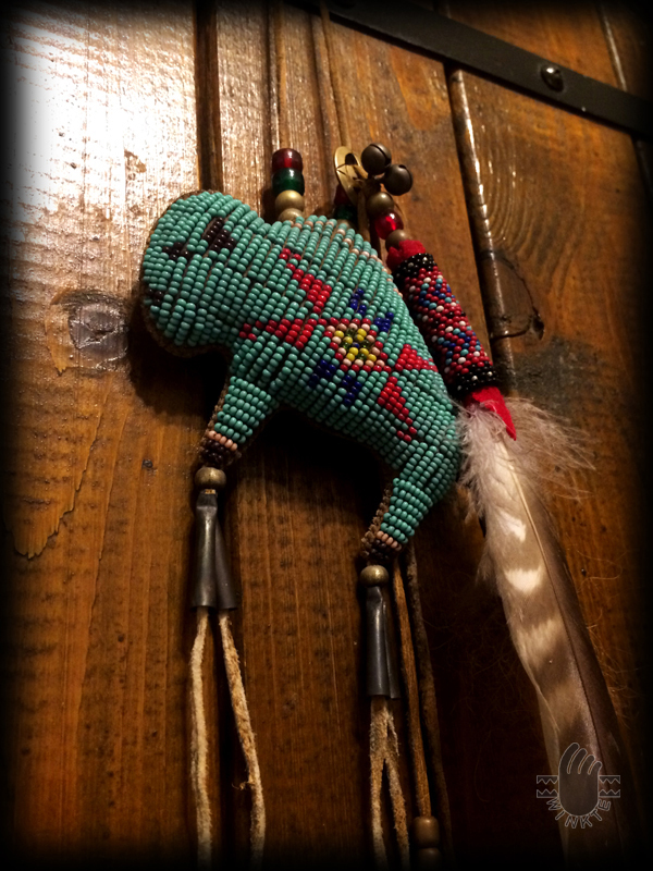Tany Beaded Buffalo Amulet 7 logo ver