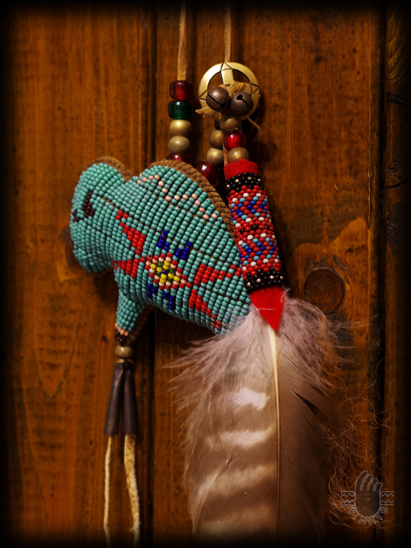 Tany Beaded Buffalo Amulet 4 logo ver