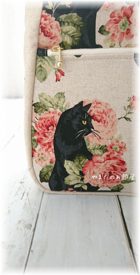 黒猫さんバッグ3点 完成♪ ⑦