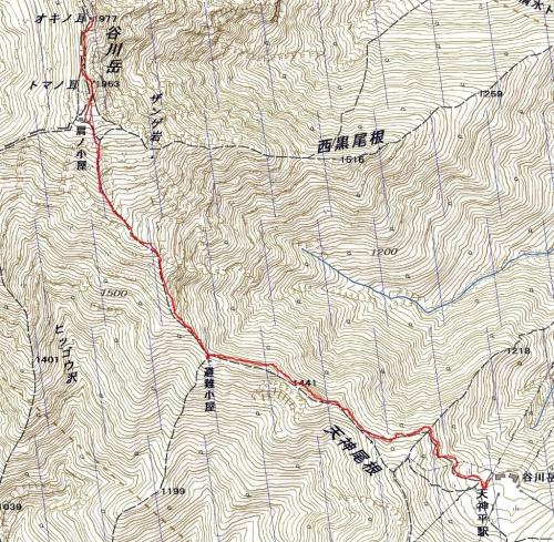 谷川岳軌跡