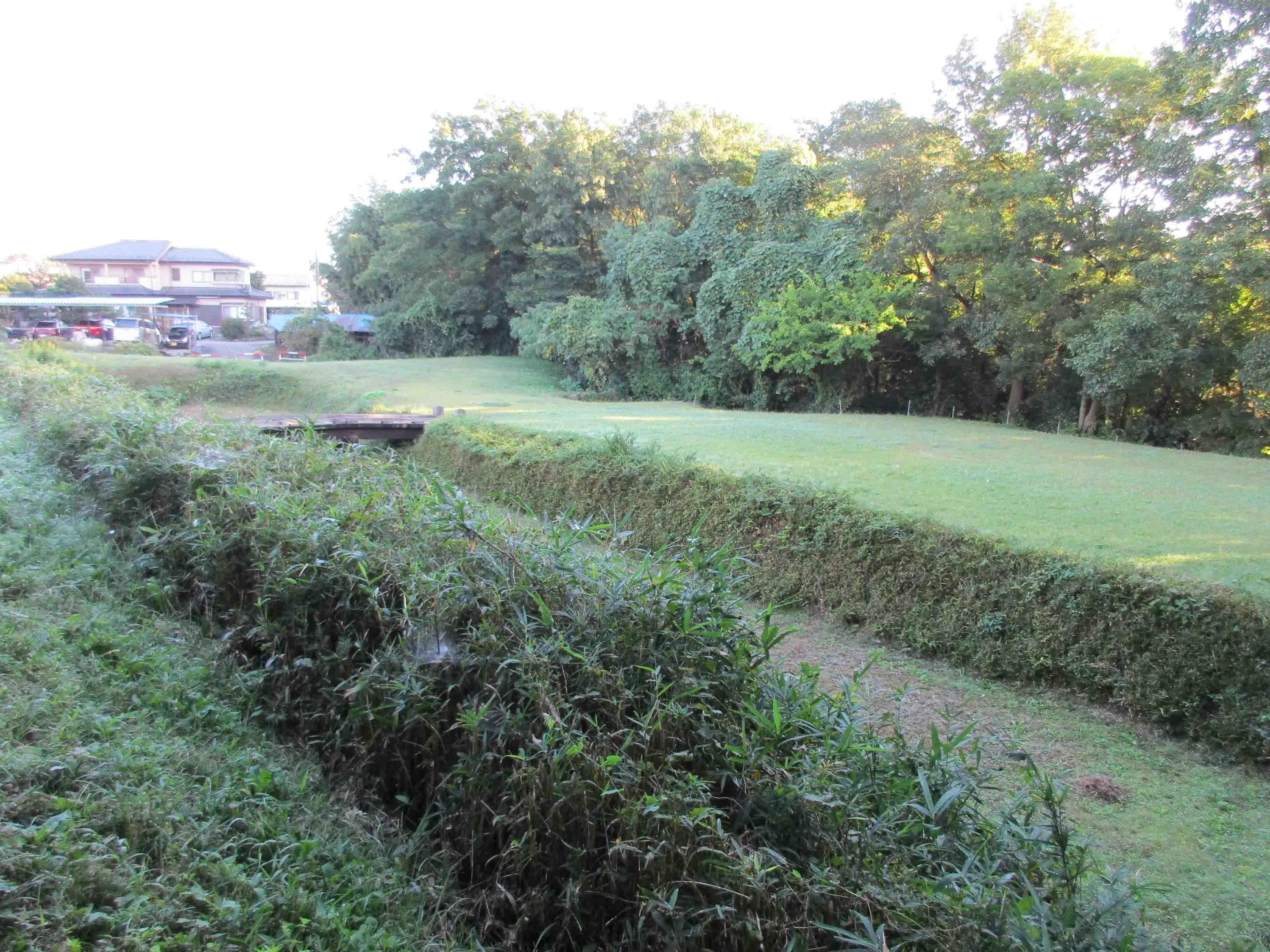 金井城 堀
