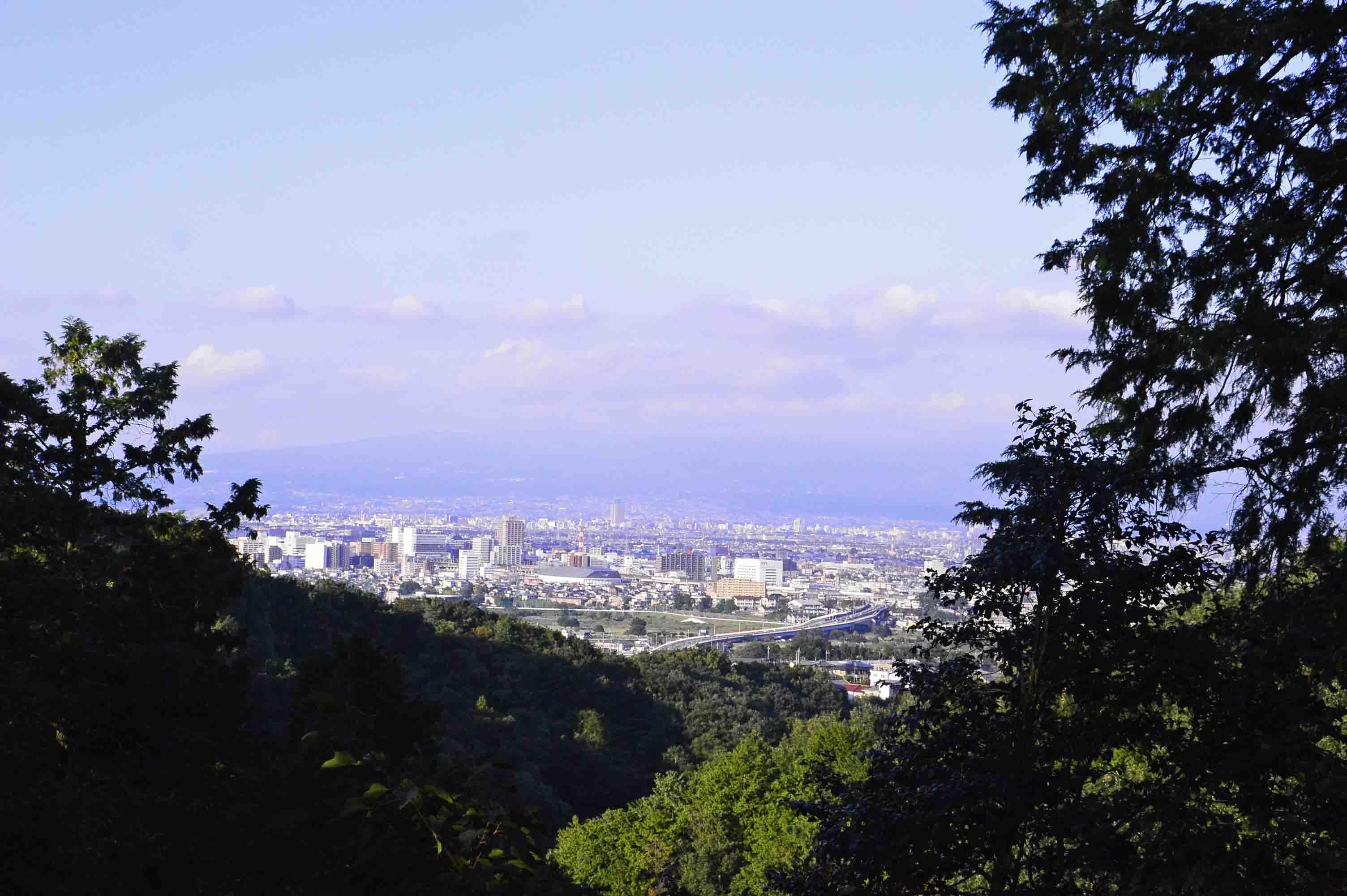 寺尾中城 本城からの展望