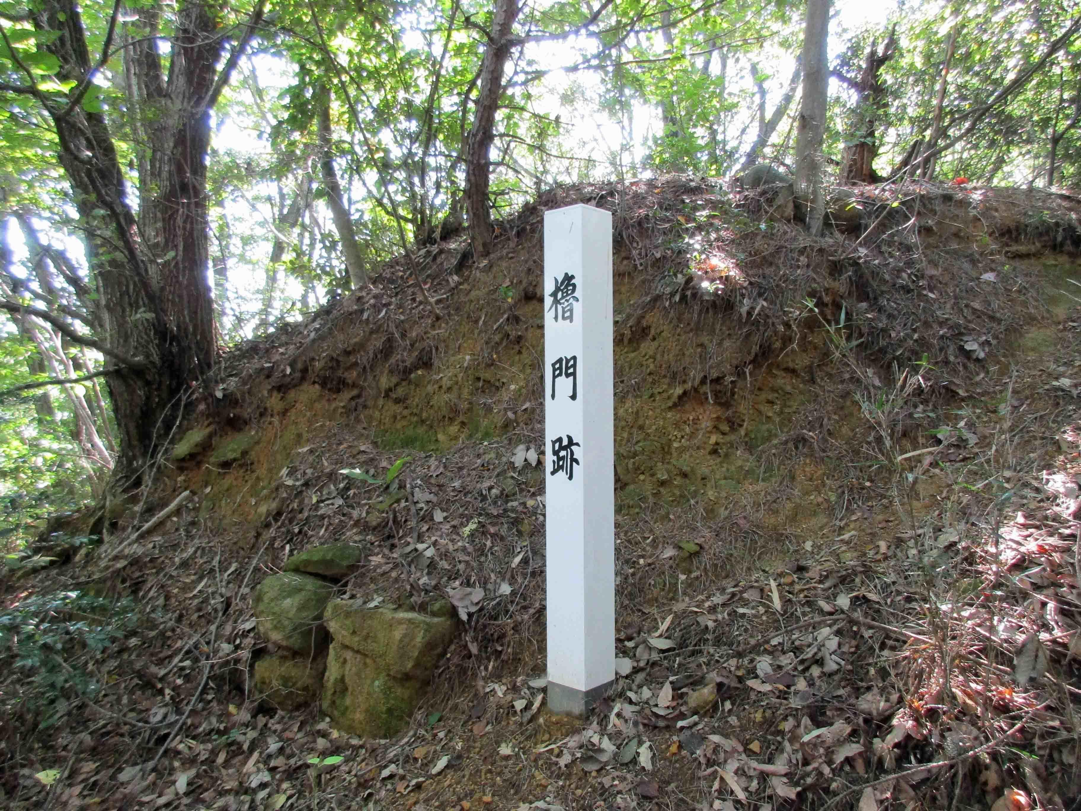 平井金山 櫓門跡