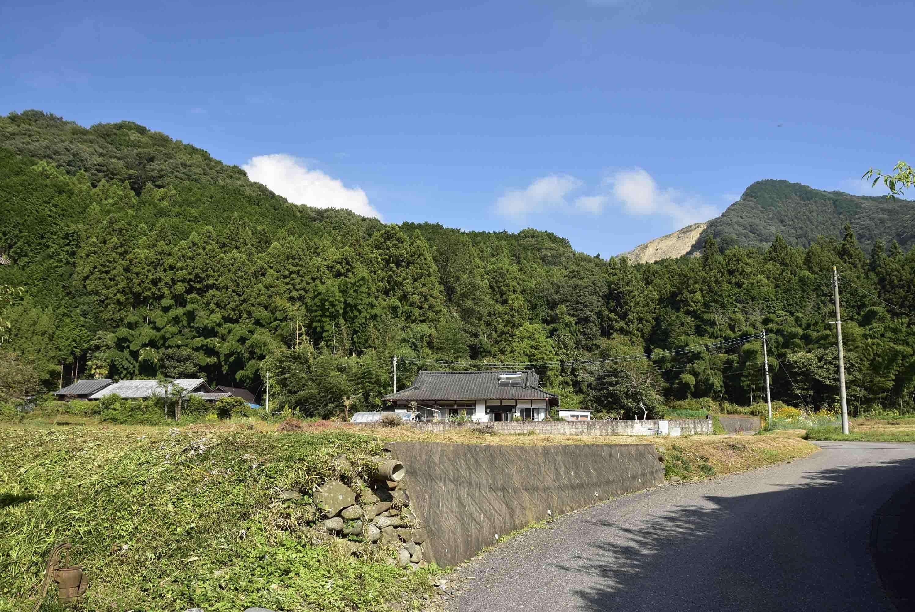 松崎城 遠景
