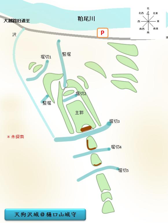 原紙 天狗沢城 栃木県鹿沼市