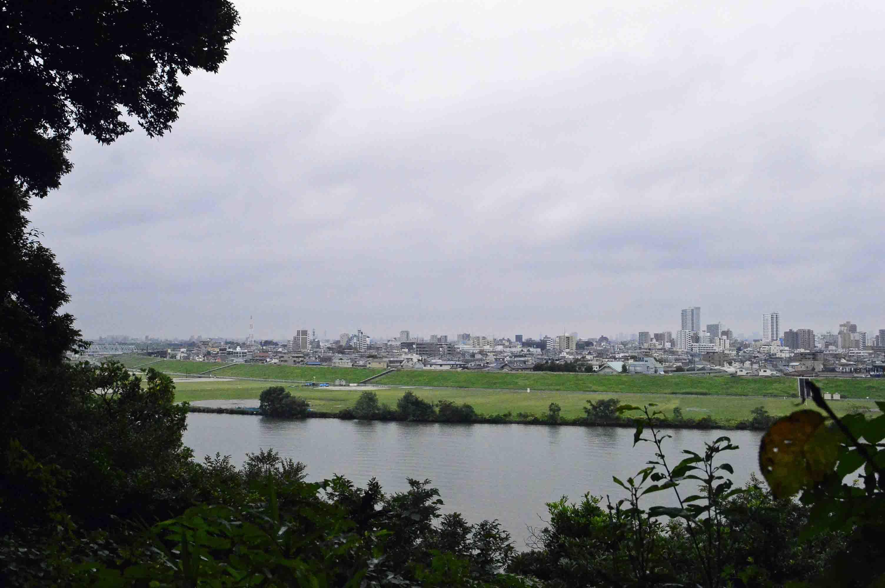 国府台城から見た江戸川