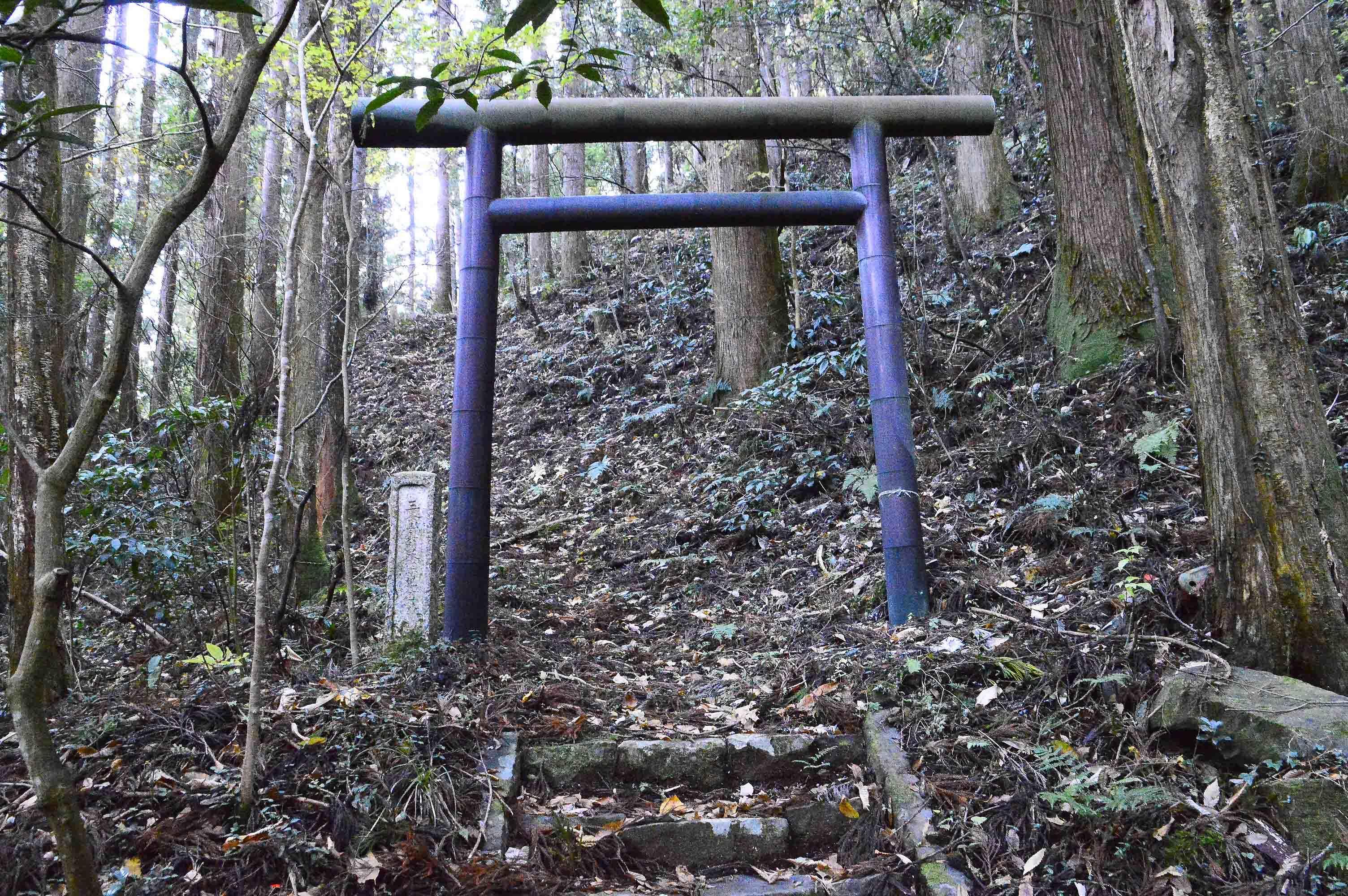 高部向館 入り口三峰神社鳥