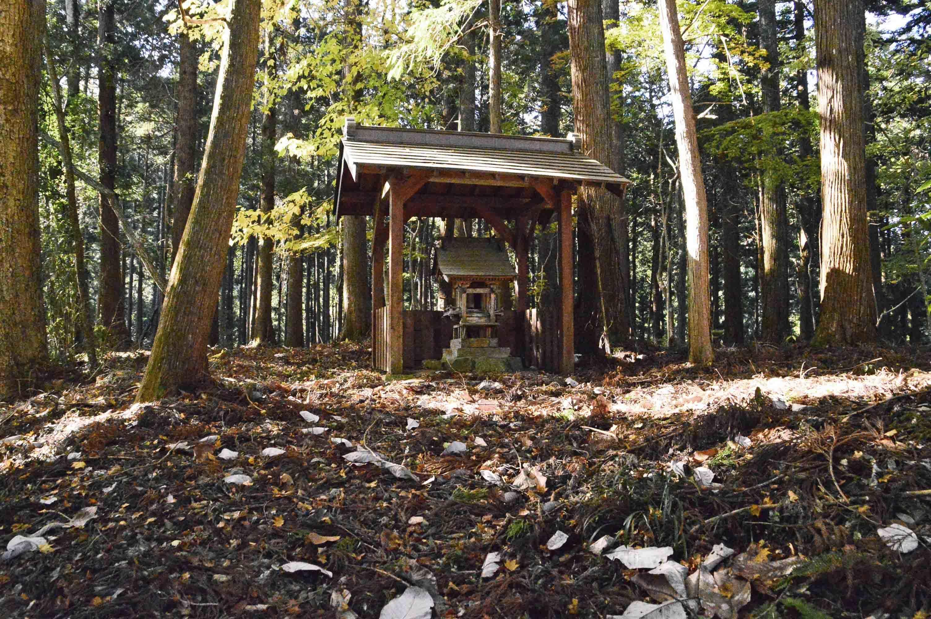 高部向館 主郭の三峰神社