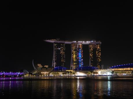 シンガポール2017.3シンガポール川夜景