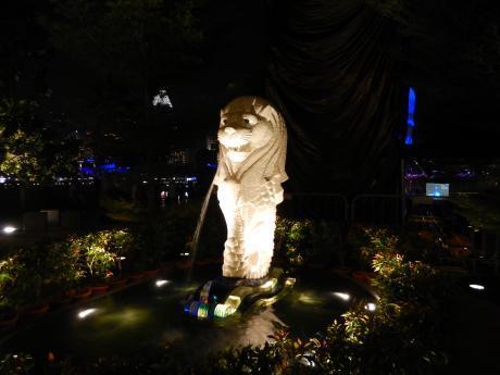 シンガポール2017.3夜景・マーライオン