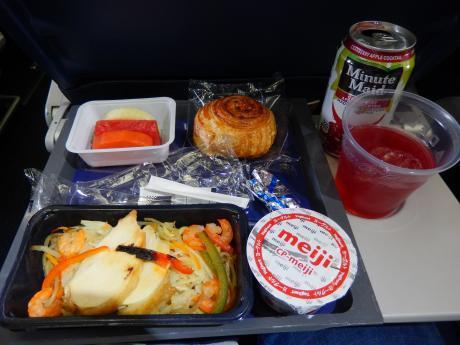 シンガポール2017.3デルタ航空成田行き・機内食