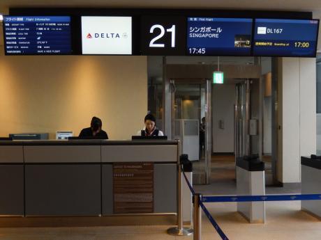 シンガポール2017.5デルタ航空・成田空港