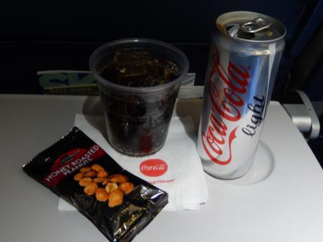 シンガポール2017.5デルタ航空シンガポール行き・機内食