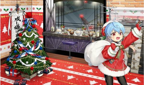 『艦これ』今日のアプデで「多摩 改二」実装!「翔鶴、長月、リベッチオ、佐渡、神威、衣笠」のクリスマスmode実装!!  みんな可愛ええええええ」