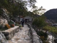 別荘への道