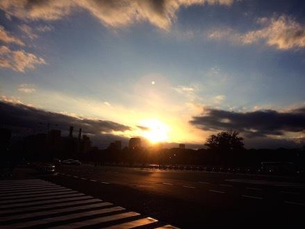 最終日夕焼け