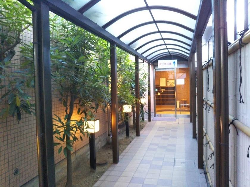 赤穂パークホテル 別棟大浴場への通路