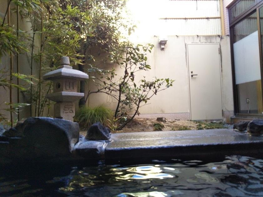 赤穂パークホテル 露天風呂 中庭