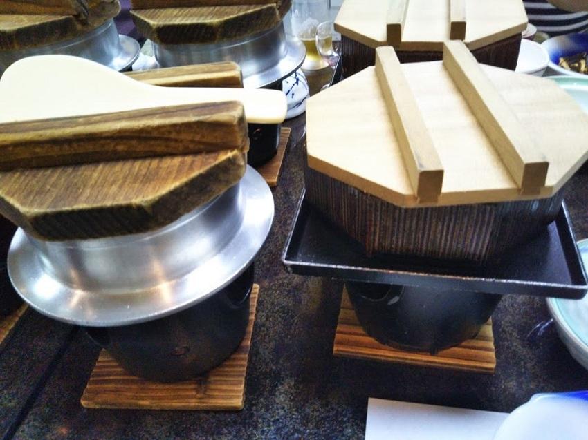 栄太郎 夕食料理 釜飯、蒸し鍋