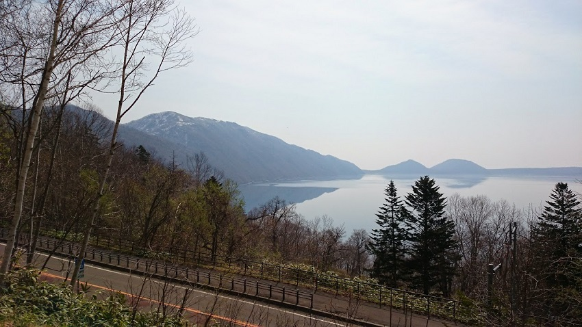 支笏湖 展望台からの眺め