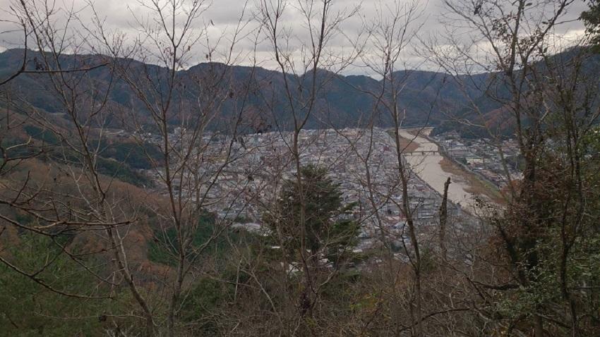 臥牛山からの眺め