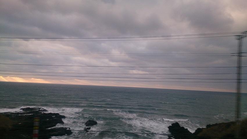 深浦付近 夕日1