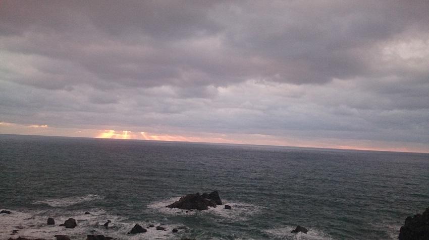 深浦付近 夕日2
