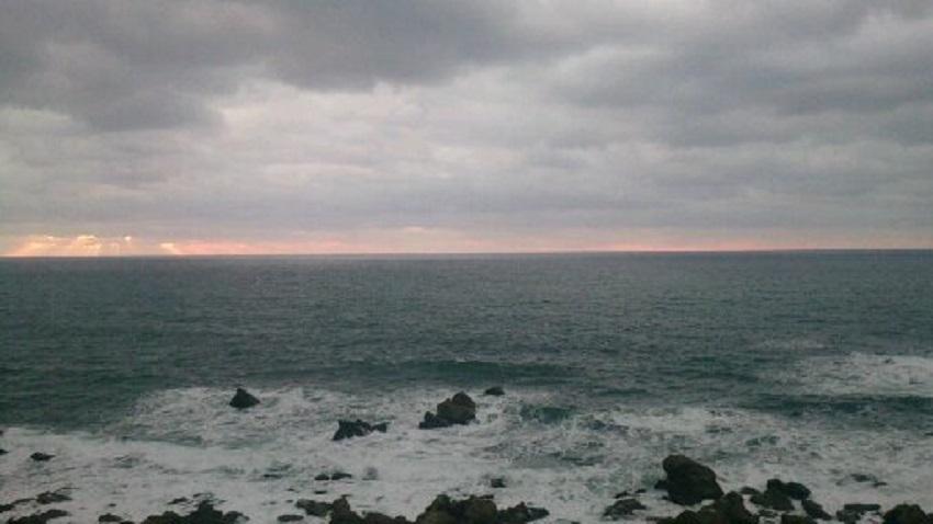 深浦付近 夕日3
