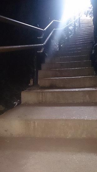 巌門 大洞門 階段