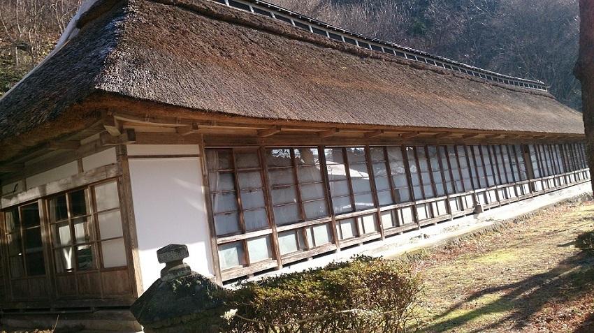 菊水館 茅葺き屋根棟