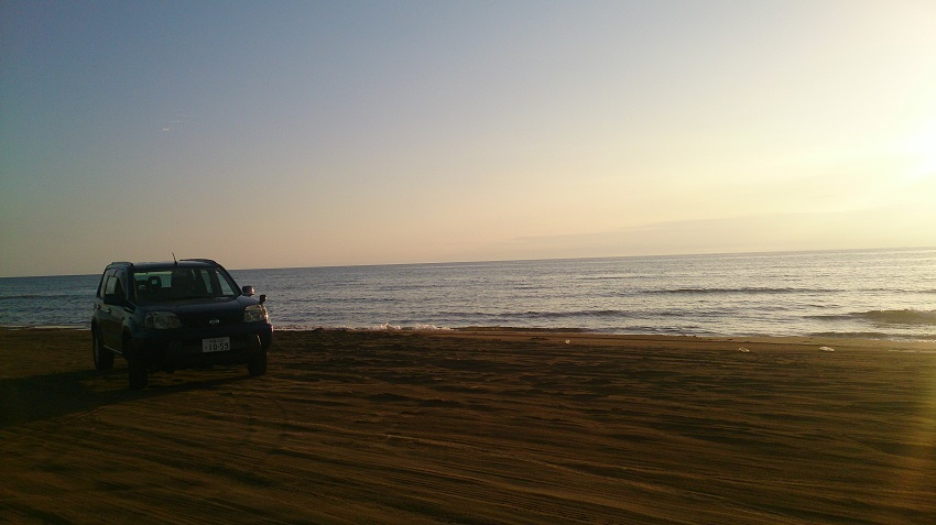 千里浜なぎさドライブウェイ 夕景1