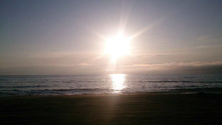 千里浜なぎさドライブウェイ 夕景2