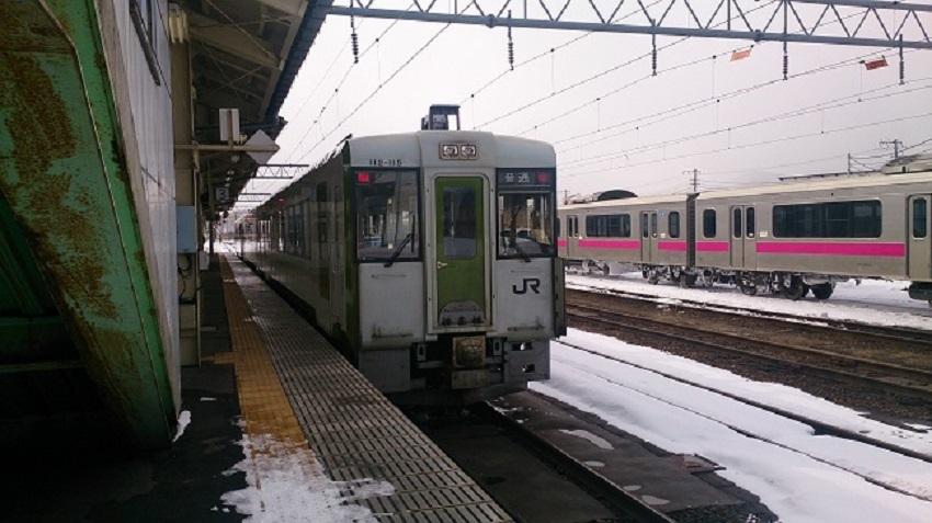 大館駅ホーム