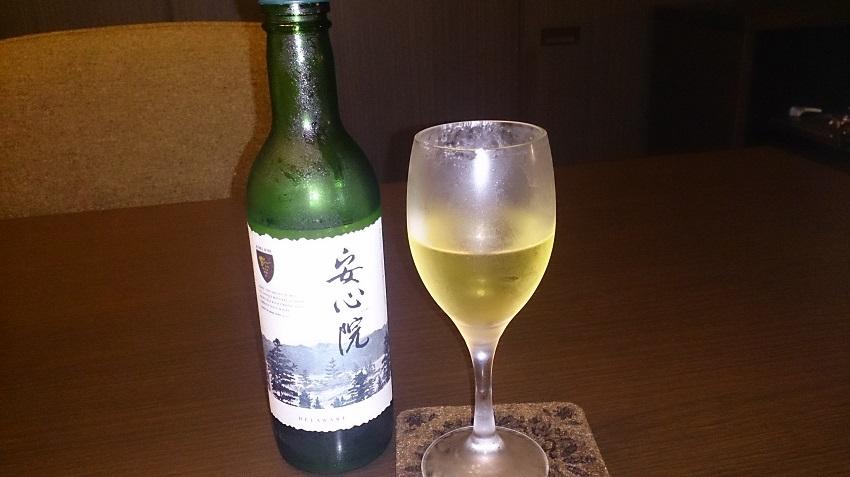旅亭松葉屋 夕食料理 白ワイン