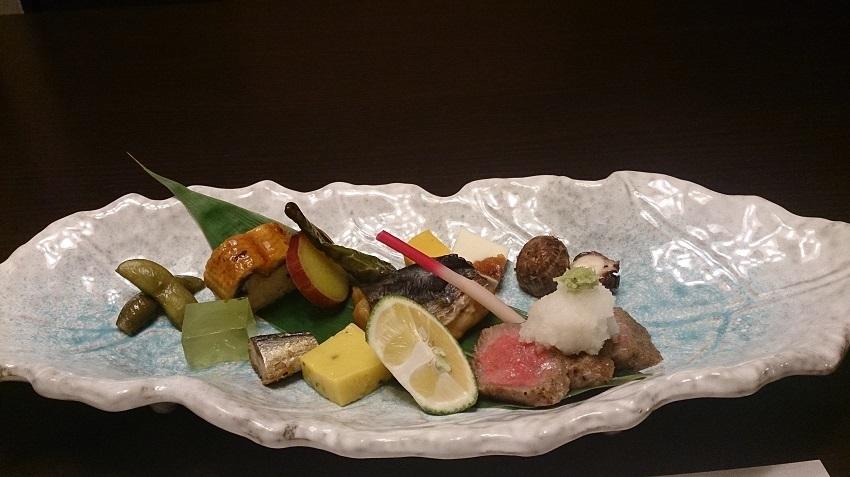 旅亭松葉屋 夕食料理 大皿料理