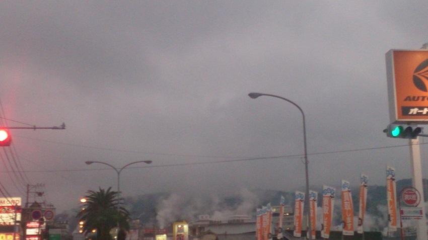 堀田温泉の湯煙り