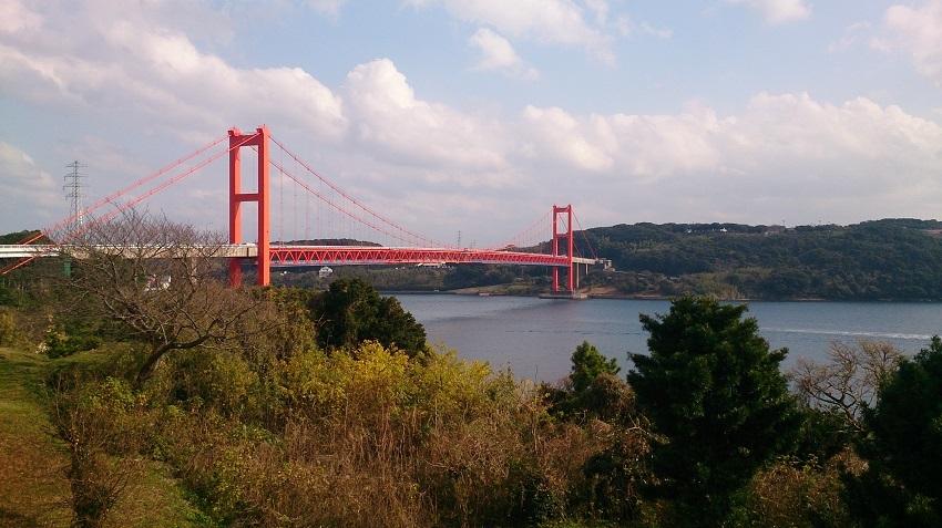 平戸公園からの眺め 平戸大橋