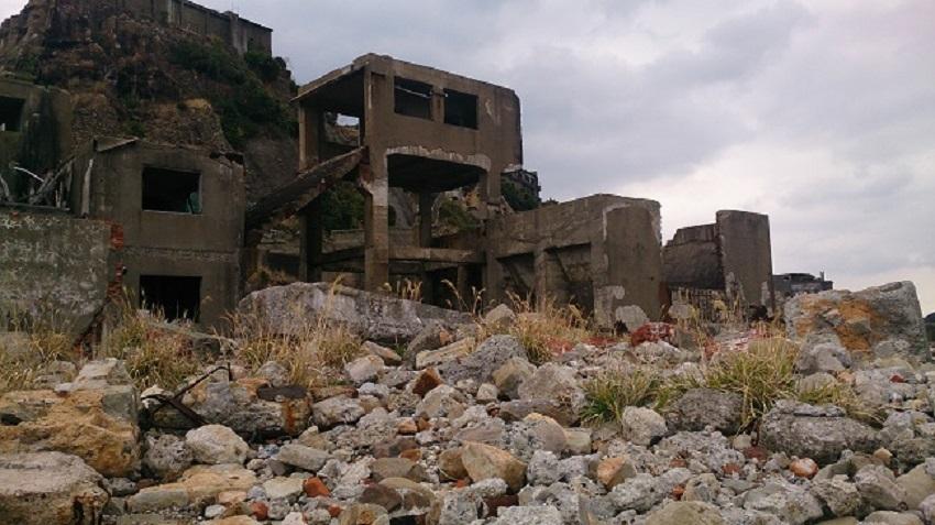 軍艦島内 竪坑