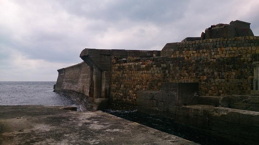 軍艦島 岸壁