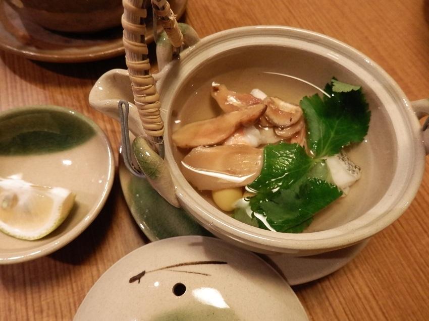 かくおや 夕食料理 松茸土瓶蒸し