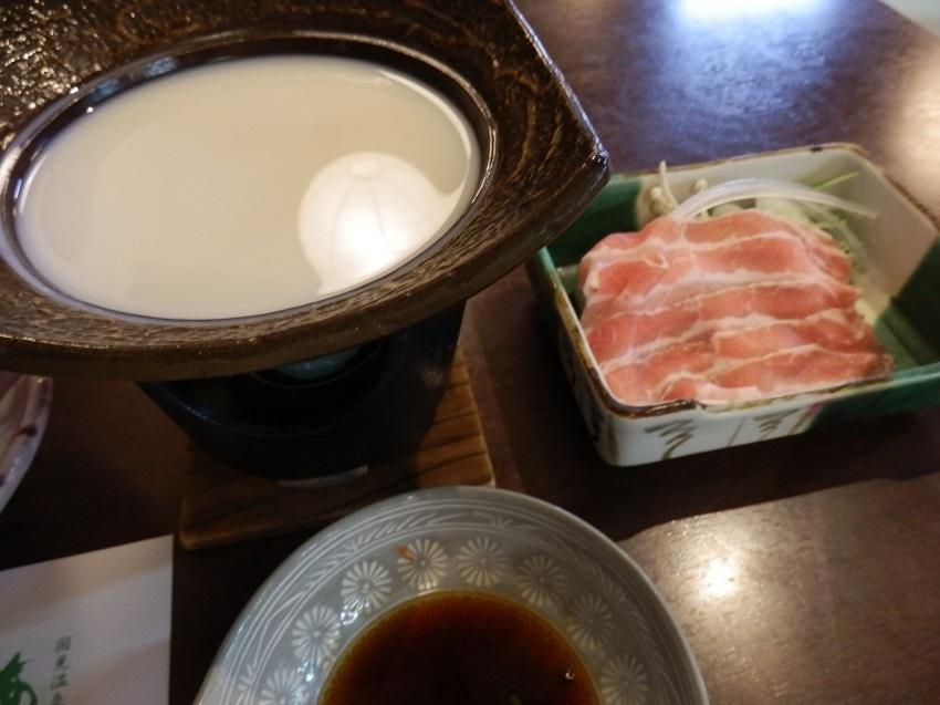 あかねの郷 夕食料理 豆乳鍋