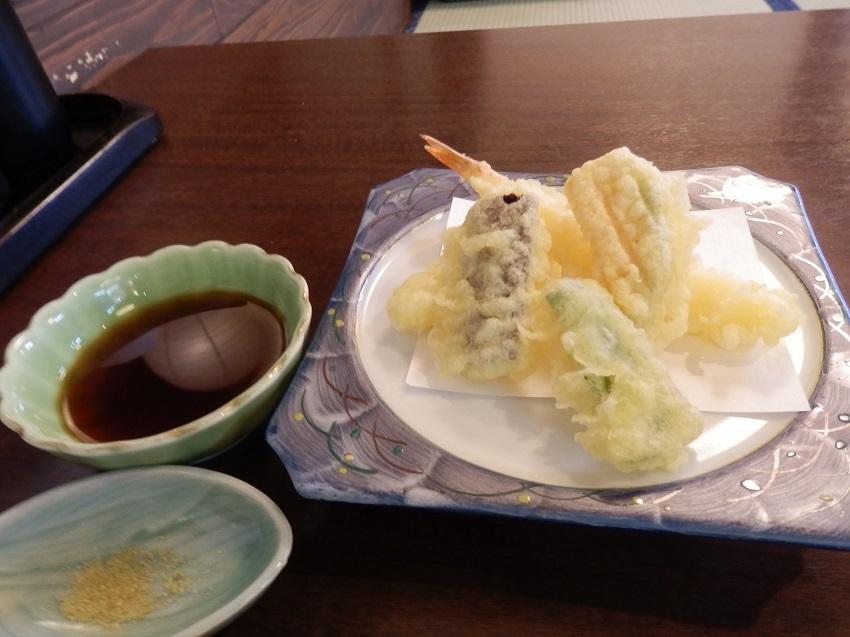 あかねの郷 夕食料理 天ぷら